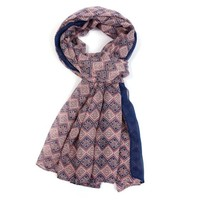 M&K Collection Scarve Little Squares pink