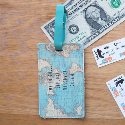 Sass & Belle Luggage Tag Vintage Map