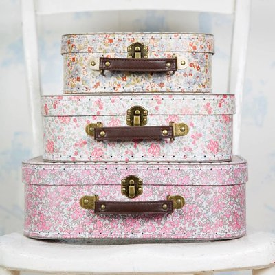 Sass & Belle Köfferchen Vintage Floral Set von 3
