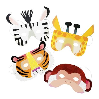 Talking Tables Papiermasken Party Animals