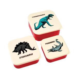Rex London Snack Boxes 3-er set Prehistoric Land