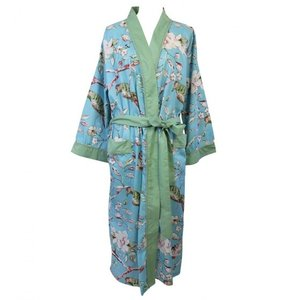 Powell Craft Dressing gown Blue Blossom