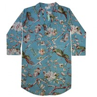 Powell Craft Nachthemd Blue Blossom S/M