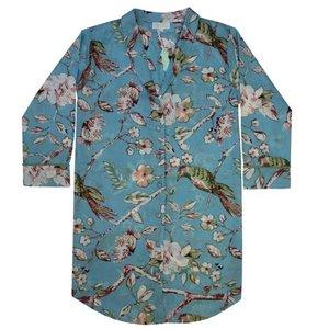 Powell Craft Nachthemd Blue Blossom S/M