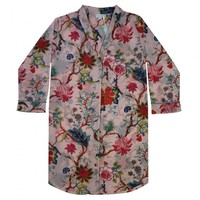 Powell Craft Nightshirt Pink Floral S/M
