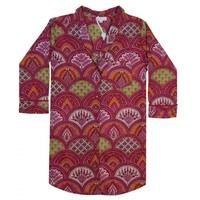 Powell Craft Nightshirt Rasberry Paisley S/M