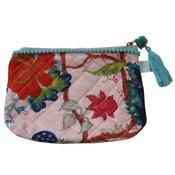 Powell Craft Make-up Bag Pink Floral