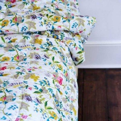 Powell Craft Steppdecke White Leaf 240 x 260