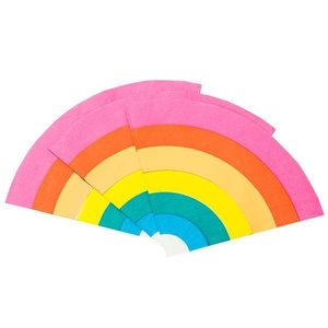 Talking Tables Paper Napkins  Rainbow shaped