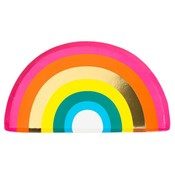 Talking Tables Pappteller Rainbow shaped
