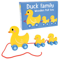 Rex London Pull Toy Duck Family