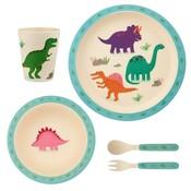 Sass & Belle Kindergeschirr Set Bamboo Dinosaurs