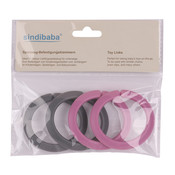 Sindibaba Spielzeug- Befestigungsklammern rosa/grau