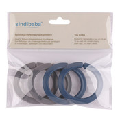Sindibaba Spielzeug-Befestigungsklammern blau/grau