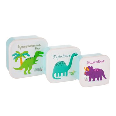 Sass & Belle Lunch Box Dinosaurs set of 3
