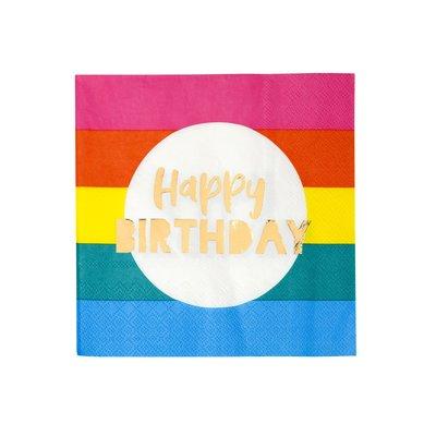 Talking Tables Papierservietten Rainbow Happy Birthday