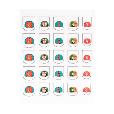 Rex London Nagel-Sticker Colourful Creatures