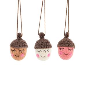Sass & Belle Christmas Hanger Happy Acorns assorti