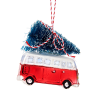 Sass & Belle Christmas decoration Camper with tree