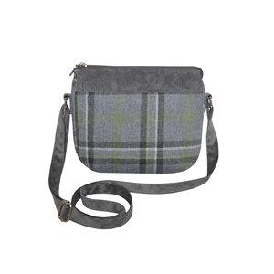 Earth Squared Messenger Bag Tweed Storm Grey