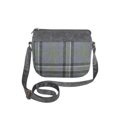 Earth Squared Messenger Bag Tweed Storm Grey