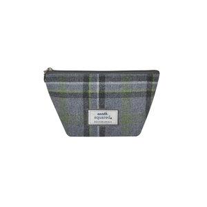 Earth Squared Make up bag Tweed Storm Grey small