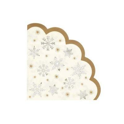 Talking Tables Paper Napkins  Scalloped Snowflake