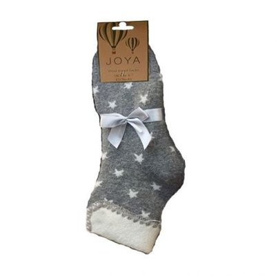 Joya Socken Wollmix extra thick Stars grey