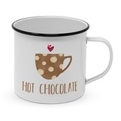 Paperproducts Design Emaille Becher Hot Chocolate
