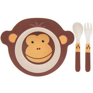 Lesser & Pavey Children's dinnerware set Bamboo Monkey