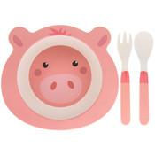 Lesser & Pavey Children's dinnerware set Bamboo Pig