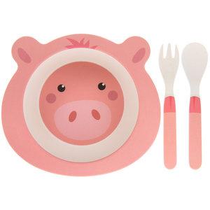 Lesser & Pavey Kindergeschirr Set Bamboo Pig