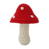 Sindibaba Baby-Rattle Mushroom red