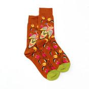 Forever England Socks Cotton Flower Fantasy rust