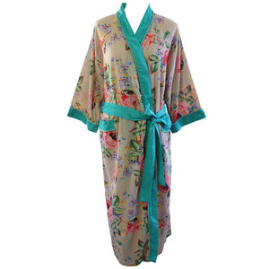 Powell Craft Dressing gown Floral Blush