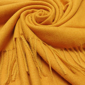 M&K Collection Scarf Cashmere Mix mustard