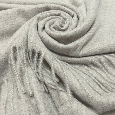 M&K Collection Scarf Cashmere Mix light grey