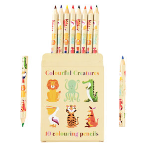 Rex London Colour pencils Colourful Creatures Set of 10