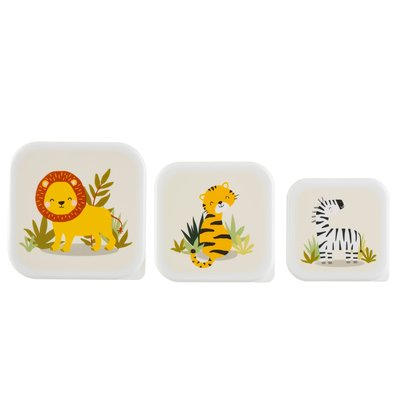 Sass & Belle Snack Box Savannah Safari set von 3