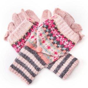 M&K Collection Gloves Shetland pink