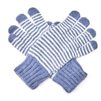 M&K Collection Gloves Tiny Stripes blue