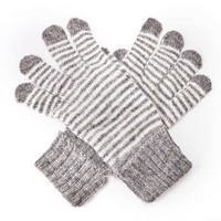 M&K Collection Gloves Tiny Stripes grey