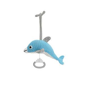 Sindibaba Spieluhr Dolphin Blau-weiß
