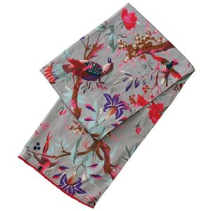Powell Craft Scarve Cotton Grey Floral