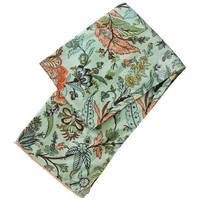 Powell Craft Schal Cotton Green Floral