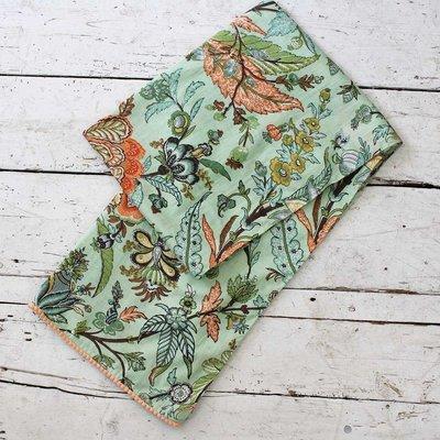 Powell Craft Schal Cotton Green Floral