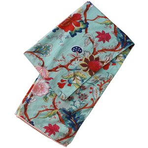Powell Craft Schal Cotton Blue Floral