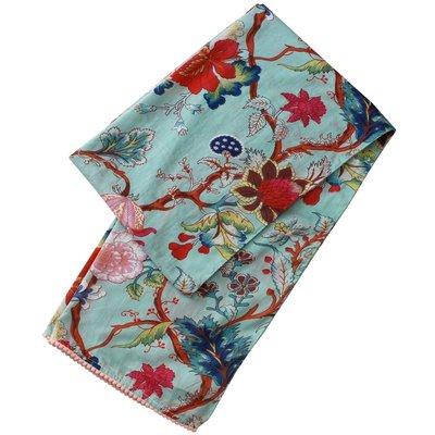 Powell Craft Schal Cotton Blue Floral