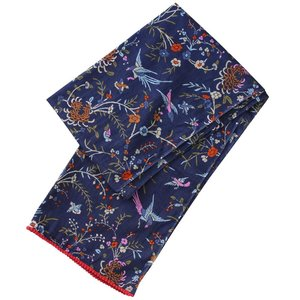 Powell Craft Schal Cotton Navy Floral