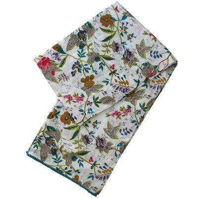Powell Craft Schal Cotton White Leaf